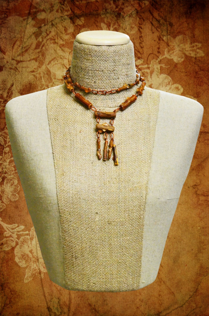 paper mache necklace