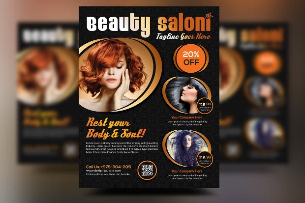 20 beauty salon flyer templates printable psd ai