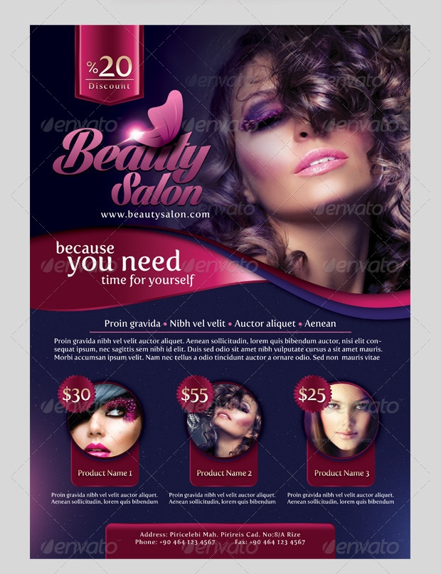 Photoshop PSD Beauty Salon Flyer