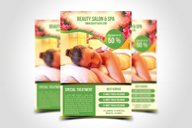 Beauty Spa and Salon Flyer Template