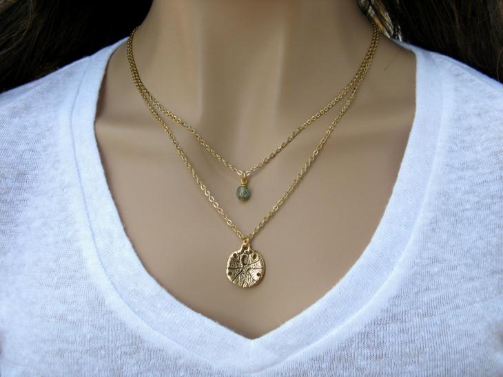 dollar pendant necklace
