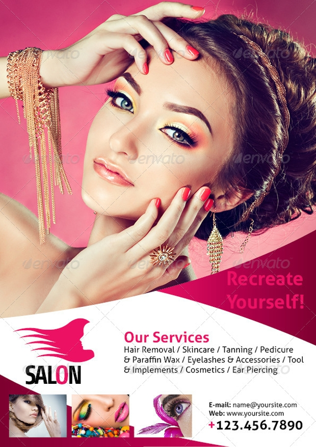 Beauty Salon A4 Flyer