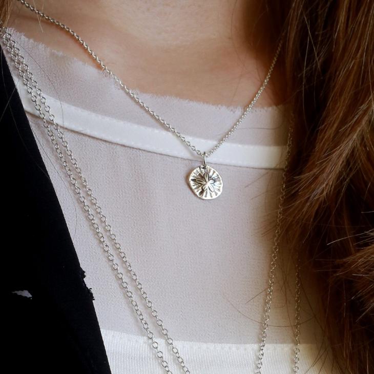 silver dollar pendant chain