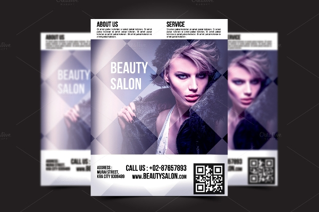 natural beauty salon flyer design