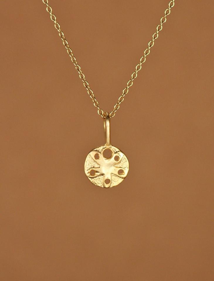 gold dollar pendant chain