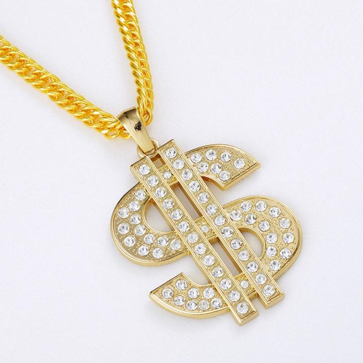 diamond dollar sign pendant