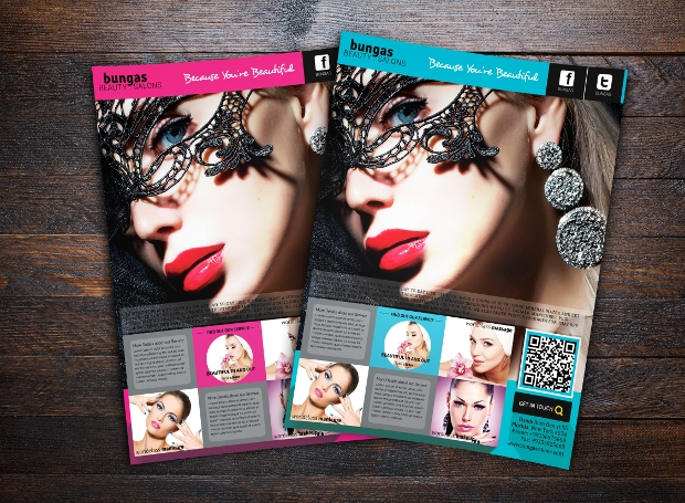 Flat Beauty Salons Advertising Flyer Template
