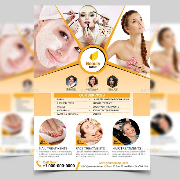 Hair Psd Free Download: 25+ Beauty Salon Flyer Templates And Designs AI,PSD