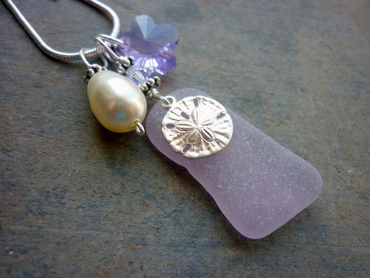 ocean silver sand dollar pendant