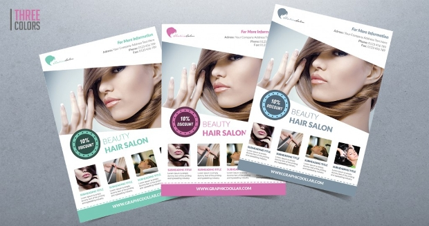 Beauty Salon Flyer Templates  Printable Psd Ai Vector Eps