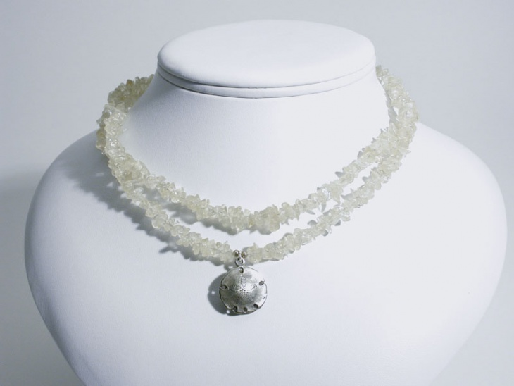 Simple White Howlite Necklace