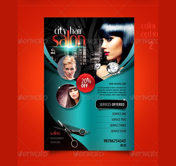 Hair Salon Promotional Flyer