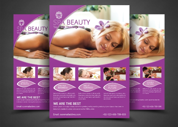 High Quality Beauty Salon Spa Flyer Template