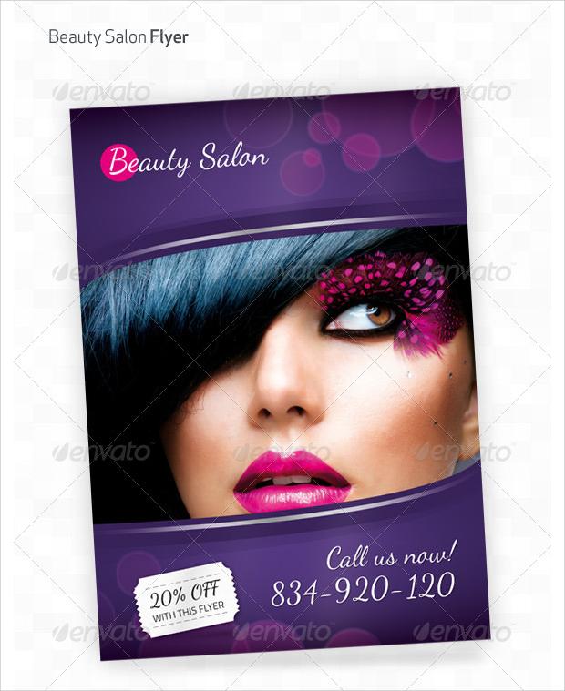 Beauty Salon Photoshop A4 Flyer