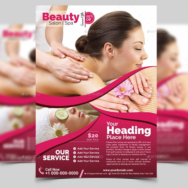 salon brochure templates - 20 beauty salon flyer templates printable psd ai