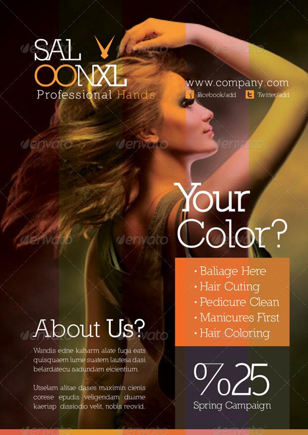 Photoshop Beauty Salon Flyer