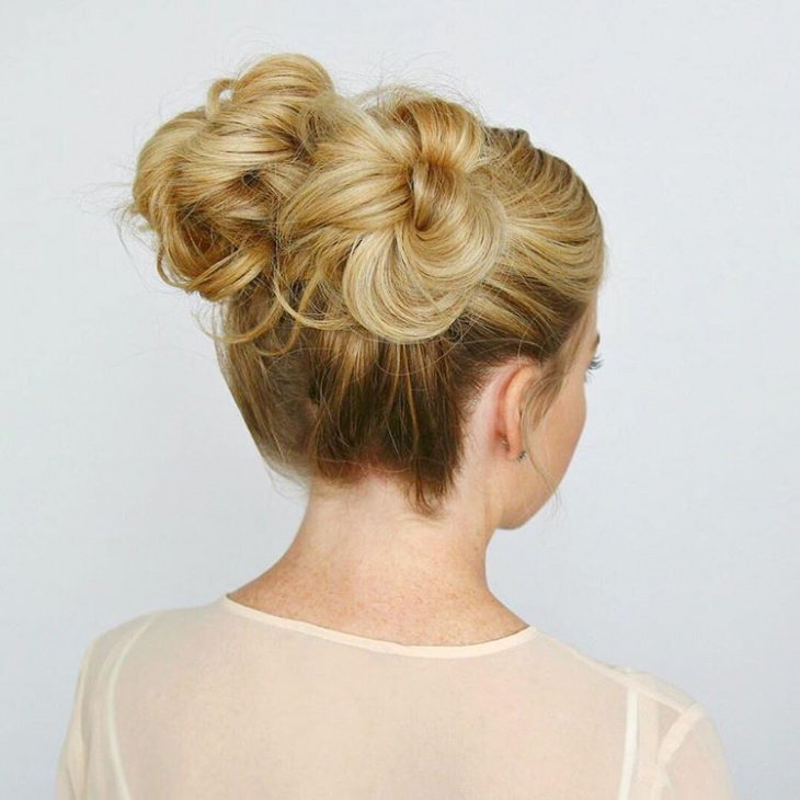 Knotted Bun Ponytail Hair