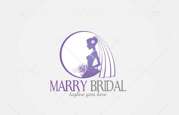 bridal logo template