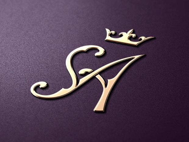 wedding dress bridal logo design