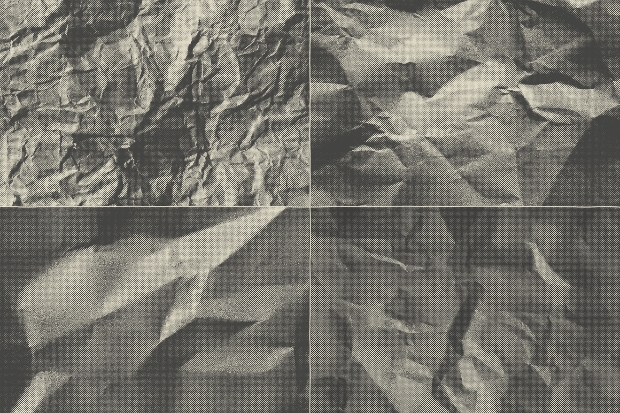 Crumpled Halftone Paper Texture