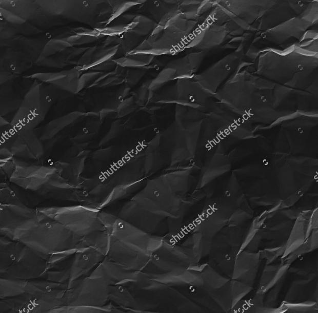 Black Wrinkled Paper Texture
