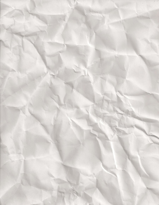 clean white crumpled paper texture