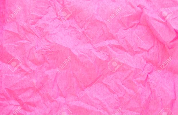 Crumpled Pink Creap Paper Texture