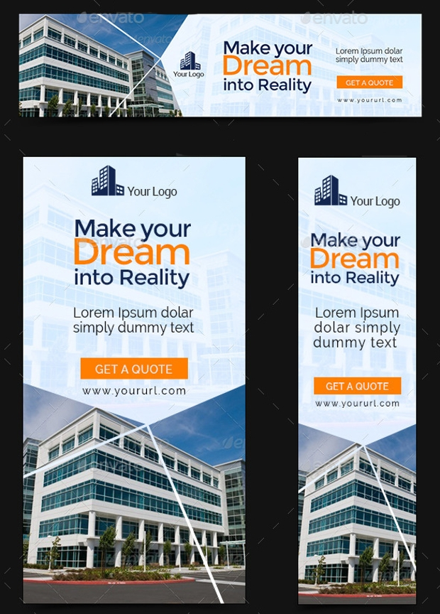 construction web banners