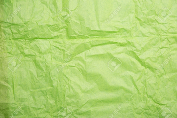 Green Wrinkled Wrapping Paper Texture