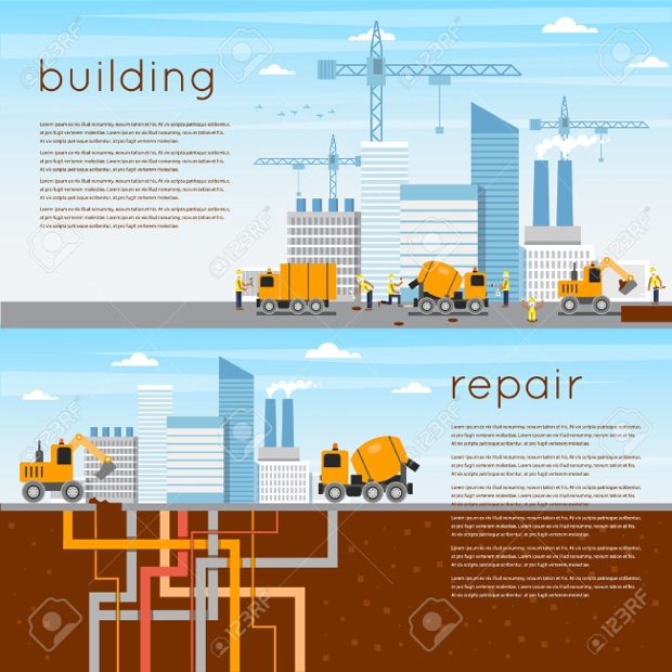construction repair banners
