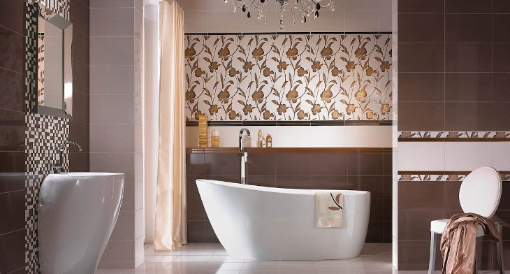 17 Floral Bathroom Tile Designs Ideas Design Trends Premium