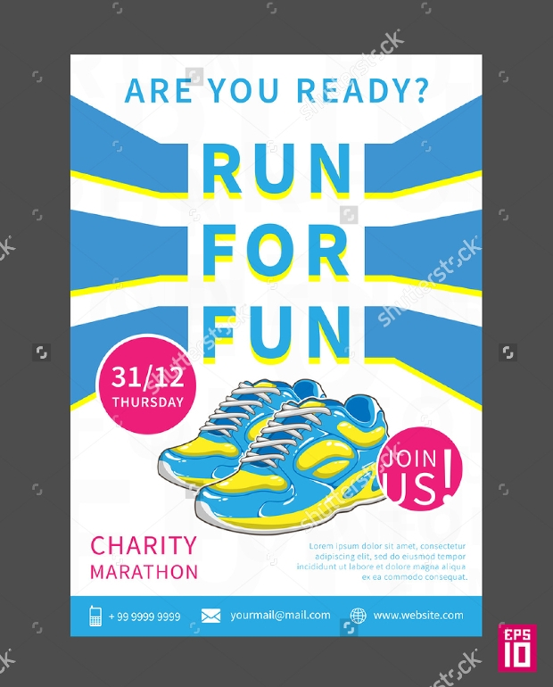 Charity Marathon Flyer Template