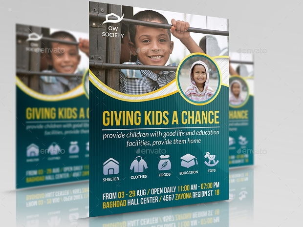 Kids Charity Help Flyer