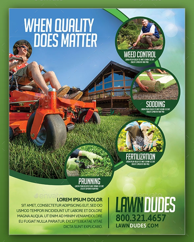 18 Landscaping Flyer Templates Printable Psd Ai Vector Eps