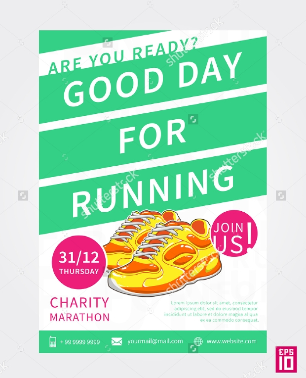 Colorful Charity Marathon Flyer