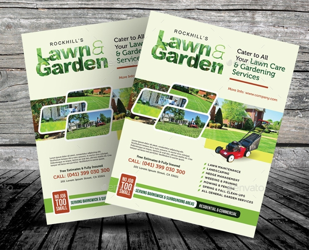 Lawn & Landscaping Flyer