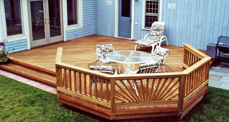 20 Ground Level Deck Designs Idea Design Trends Premium Psd