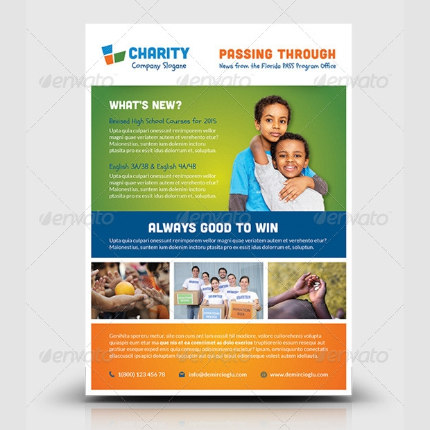Best Charity Flyer Template Design  Donation Flyer Template