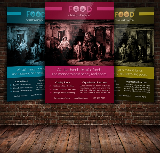 Charity Food Flyer Template