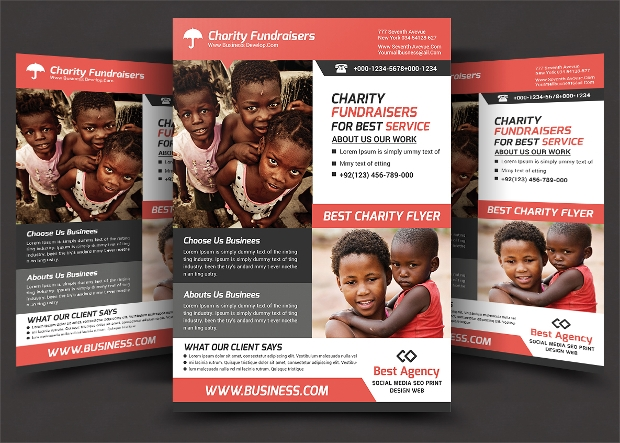 Kid Charity Flyer Template