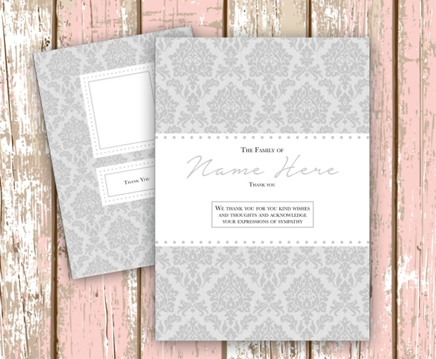 printable funeral thank you card
