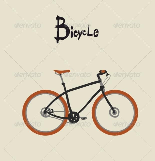 vintage vector bicycle