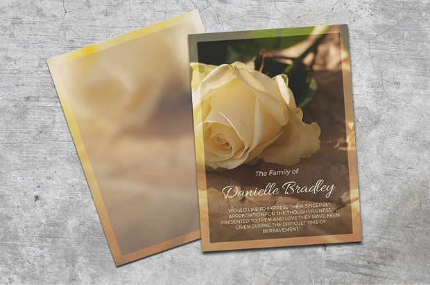 editable funeral thank you card