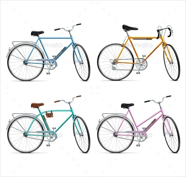 High Resolution Bicycle Vector