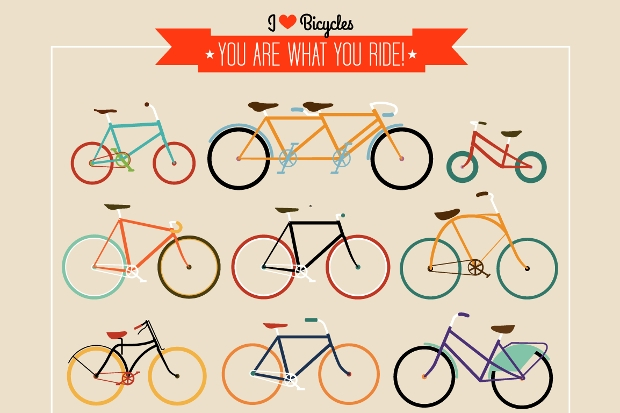 Hipster Bicycle Vector Set