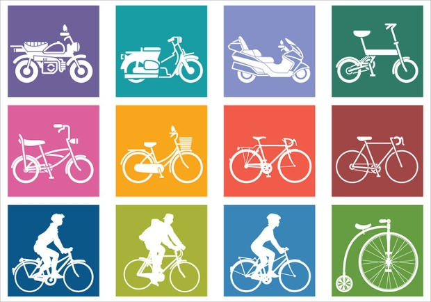 bike and bicycle vector1