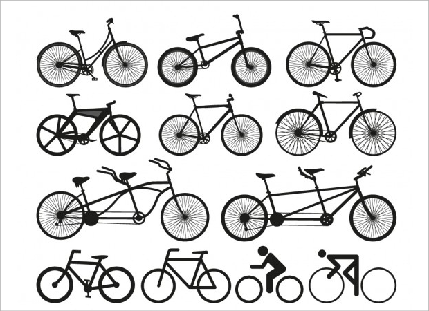 High Quality Bicycle Silhouette Vector