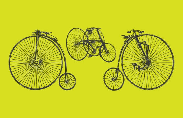 old time bicycle vectors