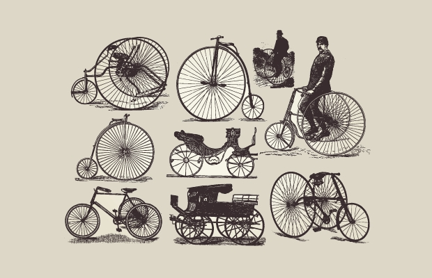 Free Traditional Bicycle Vectors