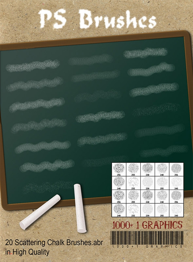 chalk scattering ps brushes
